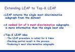 extending leap to top k leap