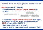 pioneer work on bug signature identification