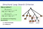 structural leap search criterion