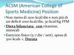 acsm american college of sports medicine position