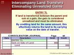 intercompany land transfers eliminating unrealized gains