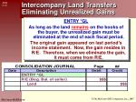 intercompany land transfers eliminating unrealized gains1