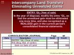 intercompany land transfers eliminating unrealized gains2