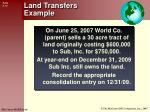 land transfers example