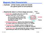 magnetic disk characteristic
