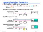 output read bus transaction