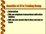 benefits of jv to trading group