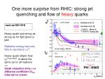 one more surprise from rhic strong jet quenching and flow of heavy quarks