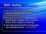 rhic findings