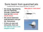 sonic boom from quenched jets casalderrey es teaney hep ph 0410067 h stocker