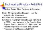 engineering physics 4p03 6p03