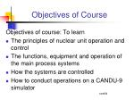 objectives of course