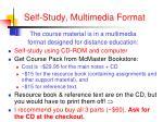 self study multimedia format