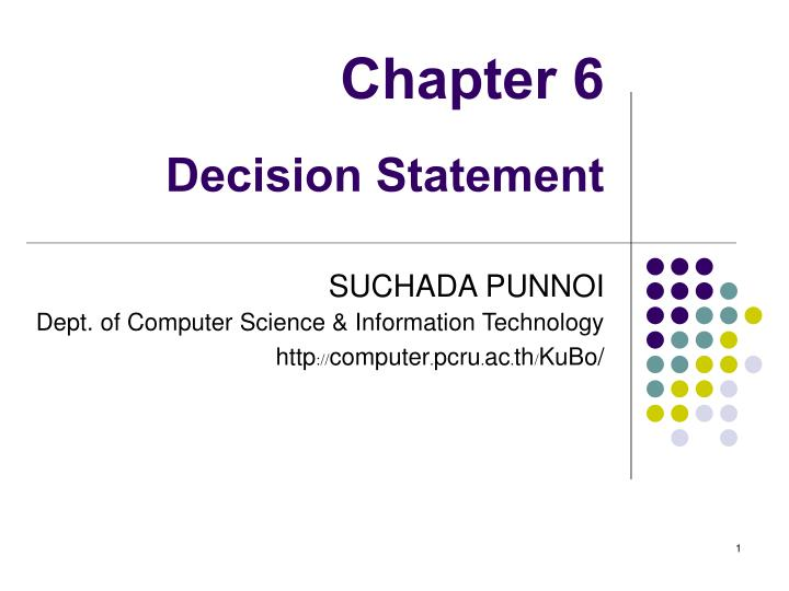 chapter 6 decision statement n.