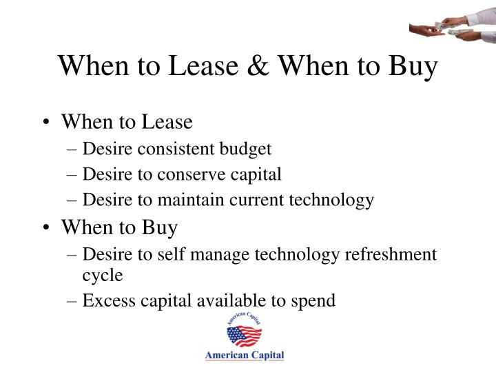 When to Lease & When to Buy