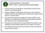 implementation framework doe o 436 1 departmental sustainability