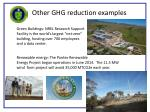 other ghg reduction examples