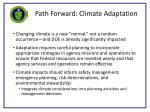 path forward climate adaptation
