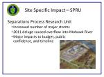 site specific impact spru