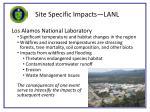 site specific impacts lanl