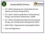 sustainability drivers