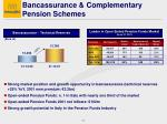 bancassurance complementary pension schemes