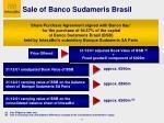 sale of banco sudameris brasil