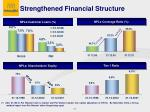 strengthened financial structure