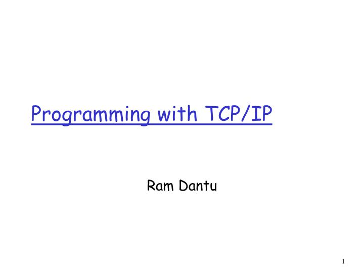 programming with tcp ip n.