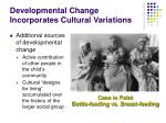 developmental change incorporates cultural variations