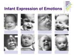 infant expression of emotions