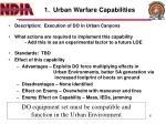 1 urban warfare capabilities