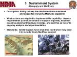 3 sustainment system resupply and medevac