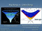 big bang vs little bang