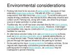 environmental considerations