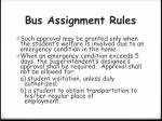 bus assignment rules1