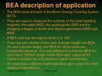 bea description of application