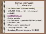 contact information d l wiesenthal