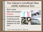 the vatican s unofficial new 2008 additional sins