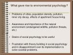 what gave rise to environmental psychology1