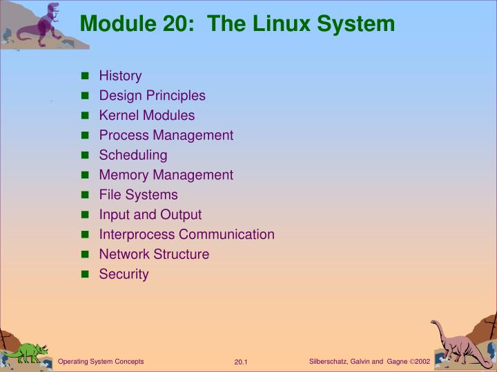 module 20 the linux system n.