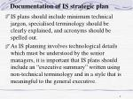 documentation of is strategic plan1