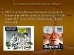 evolution r cente du groupe danone1