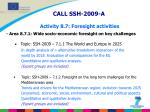 call ssh 2009 a activity 8 7 foresight activities