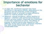 importance of emotions for bechavior
