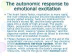 the autonomic response to emotional excitation