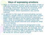 ways of expressing emotion s