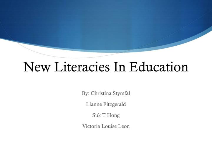 new literacies in education n.