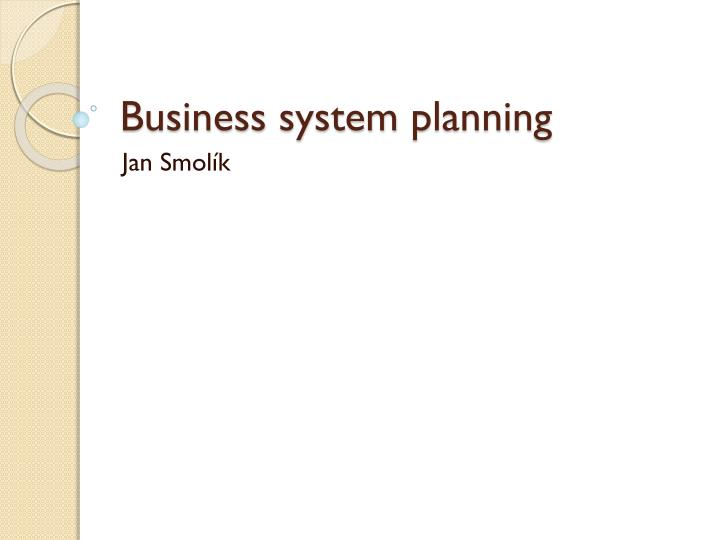 business system planning n.
