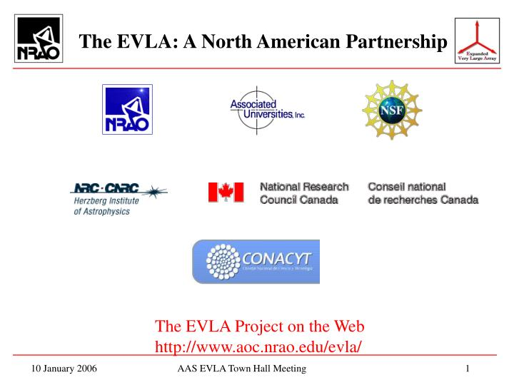 the evla a north american partnership n.